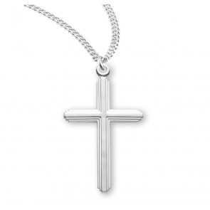 "1 1/2"" Sterling Silver Cross with 20"" Chain"