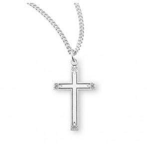 "1 1/4"" Sterling Silver Cross with 18"" Chain"