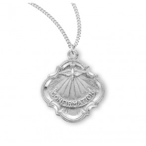 Holy Spirit Sterling Silver Confirmation Medal