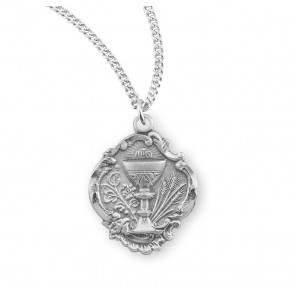 "3/4"" Sterling Silver Chalice Pendant with 18"" Chain"