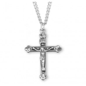 Budded Tip Sterling Silver Crucifix