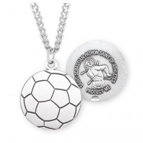 Saint Sebastian Sterling Silver Soccer Athlete Medal