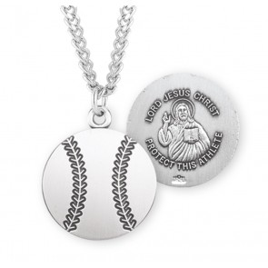 Lord Jesus Christ Sterling Silver Baseball Athlete Medal