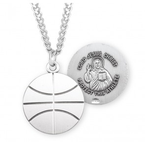 Lord Jesus Christ Sterling Silver Basketball Athlete Medal