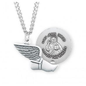 Lord Jesus Christ Sterling Silver Track Athlete Medal