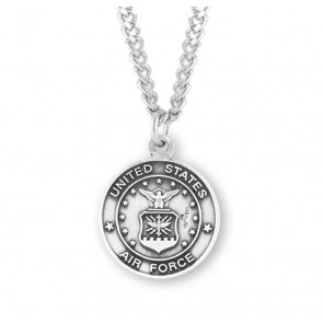 Air Force Saint Michael Sterling Silver Round Medal