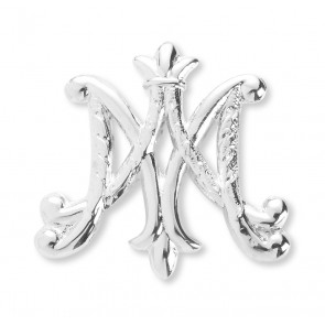 Sterling Silver Ave Maria brooch Pin