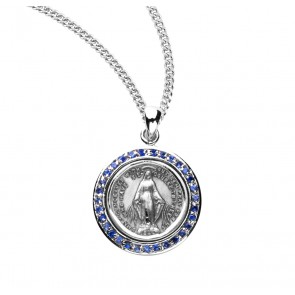 Sterling Silver Round Miraculous Medal