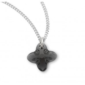 Genuine Swarovski Jet Black Crystal Tribe Cross