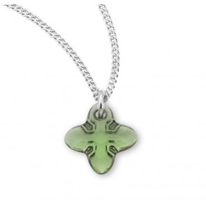 Genuine Swarovski Peridot Crystal Tribe Cross