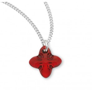 Genuine Swarovski Ruby Crystal Tribe Cross
