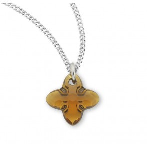 Genuine Swarovski Topaz Crystal Tribe Cross