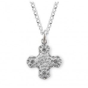 Crystal and Black Diamond Swarovski Pave Greek Cross Pendant