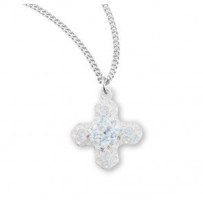 Moonlight and White Opal Pave Greek Cross Pendant